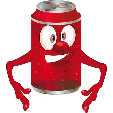 joke glasses: Cheerful metal tin for drinks. Cartoon  Illustration