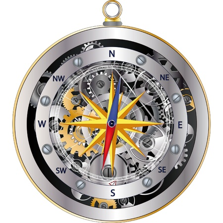 Mechanical compass Stock Vector - 12485652