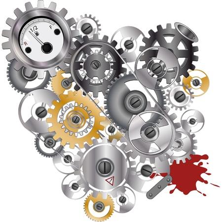 mechanical gears Stock Vector - 12485649