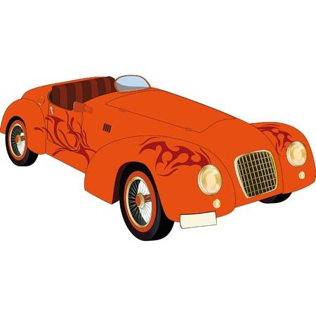 Old racing car Stock Vector - 12485645