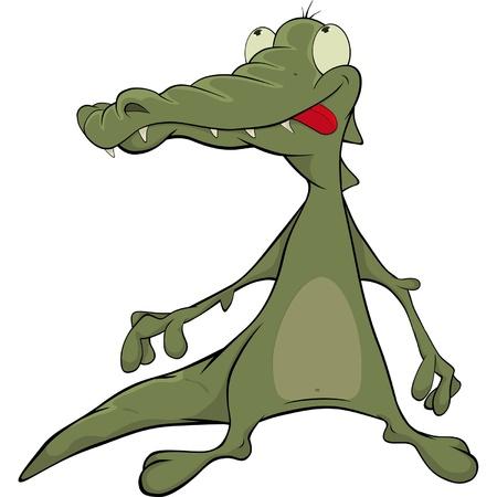 Crocodile. Cartoon