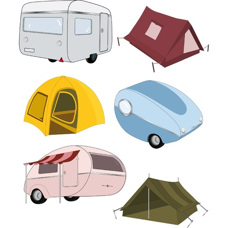 camping tent: The complete set camping Illustration