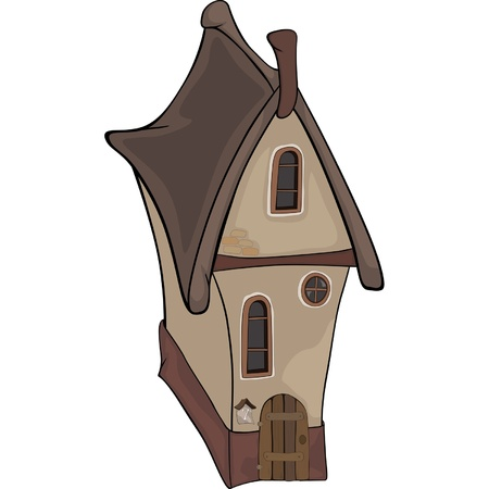 The old house from a fairy tale  Cartoon Vector