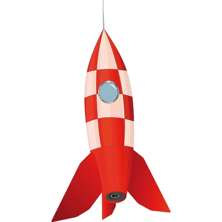 Toy rocket  Stock Illustratie