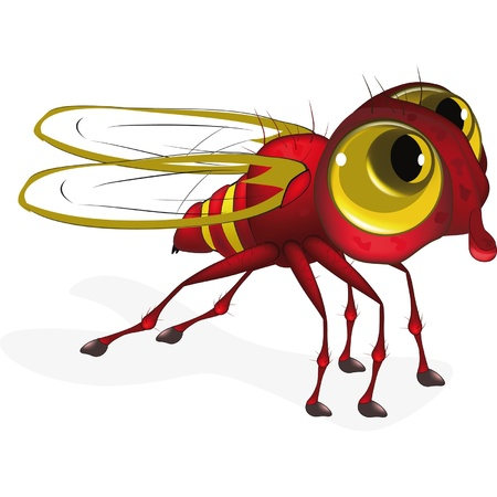 disgust: Red insect