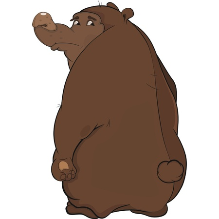 The offended bear Vector