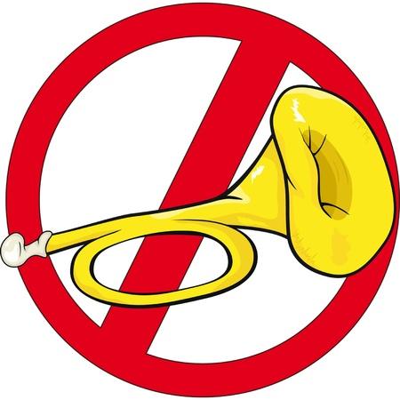 panneau de signalisation illustration klaxon de bande dessinée