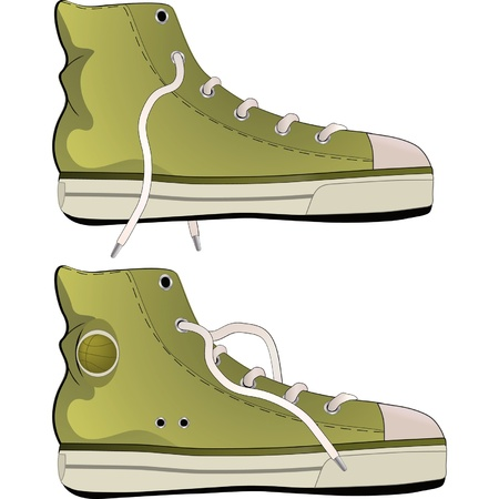 Gym shoes Illustration