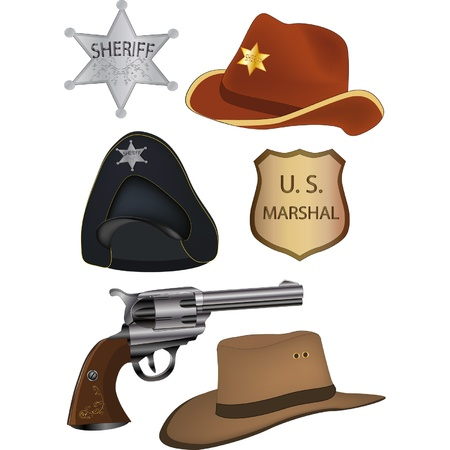 Set of subjects for the policeman  Vector
