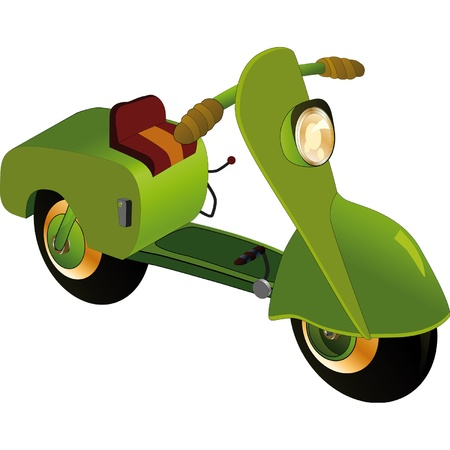 Motor scooter  Illustration