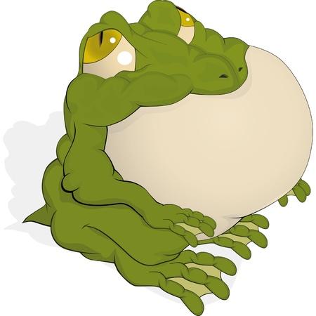 wart: The big green toad  Illustration