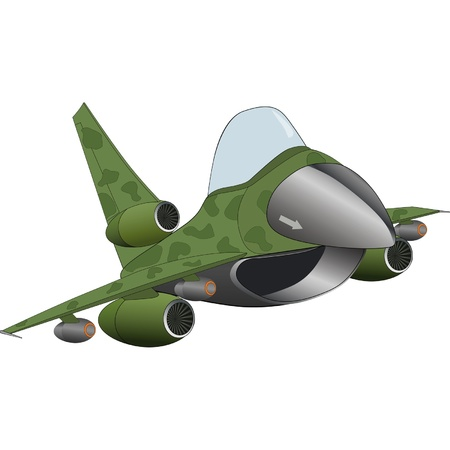 The modern military jet airplane Vector