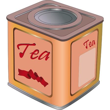 Box for tea  Illustration