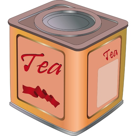 chinese tea: Box for tea  Illustration