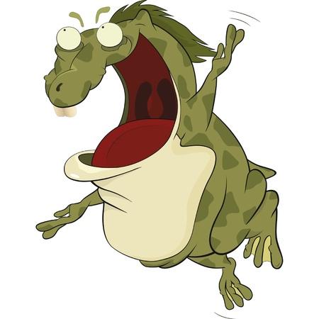 repulsive: The big green toad  Cartoon