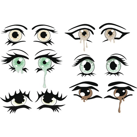 he complete set of the drawn eyes Stock Vector - 12801549