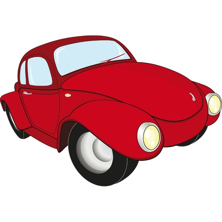 The red car Stock Vector - 12801551