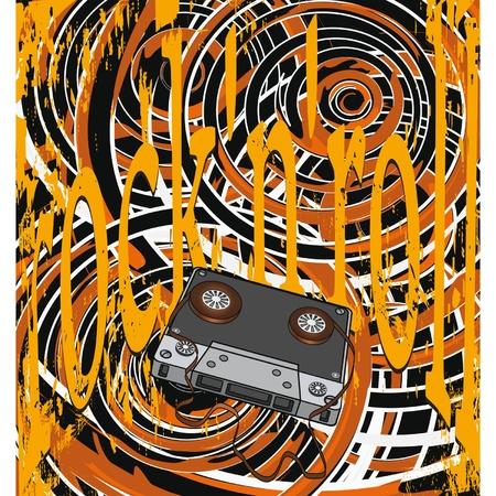 Audio cassette and the poster Vector
