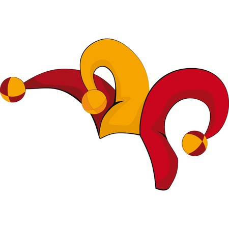 jester hat: Cap of a joker Cartoon Illustration