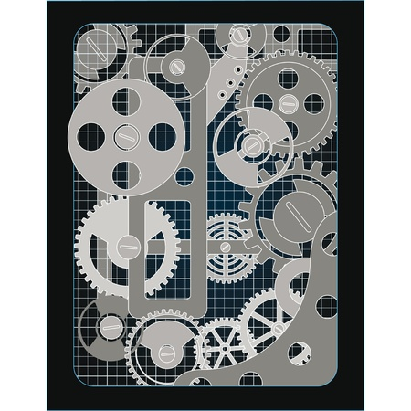Background with gears Stock Vector - 12801630