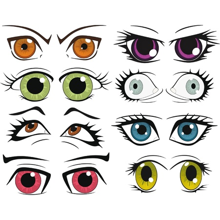 The complete set of the drawn eyes  Stock Vector - 12801704