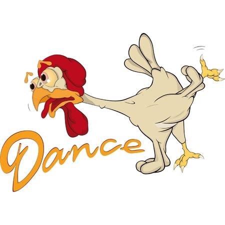 baile caricatura: Baile de pollo
