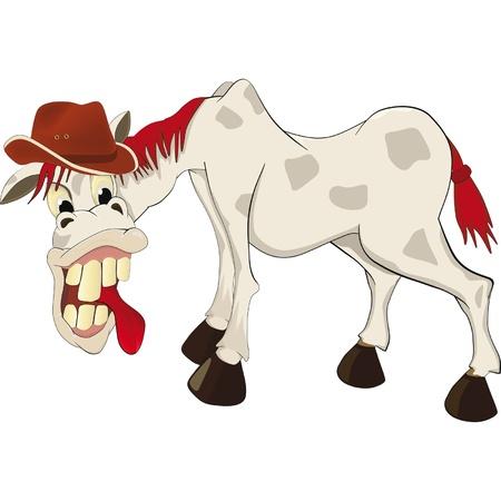 hombre caricatura: caballo de la caricatura
