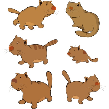Cats Clip-Art  Cartoon  Stock Vector - 13043629