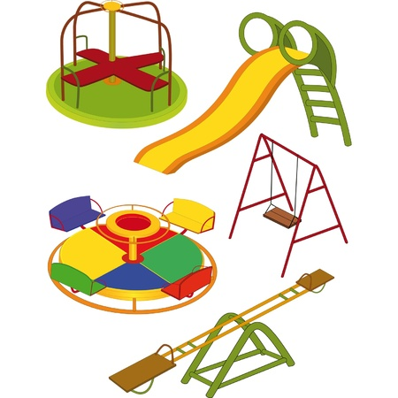 The complete set a children s swing  Vector