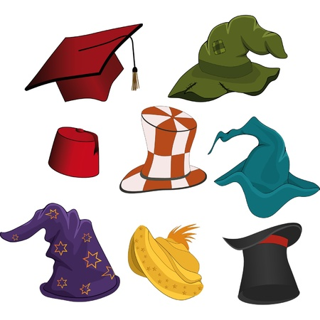 magician: The complete set of hats