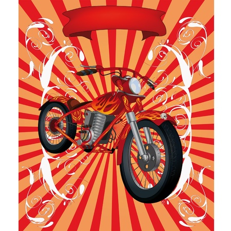 The poster a motorcycle Stock Vector - 13043640
