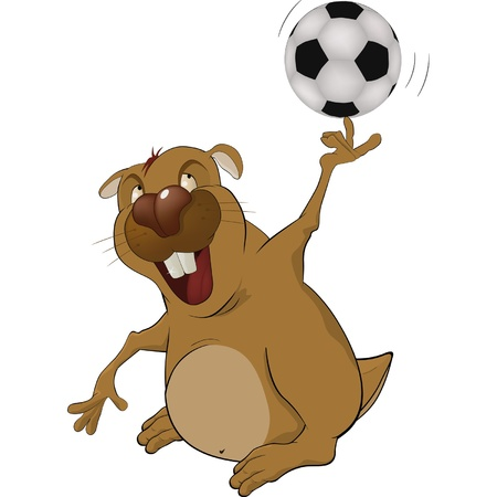 The beaver the soccer player Vector