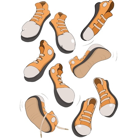 zapatos caricatura: El conjunto completo de calzado deportivo calzado de gimnasia