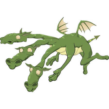 dragon from a fairy tale Vector