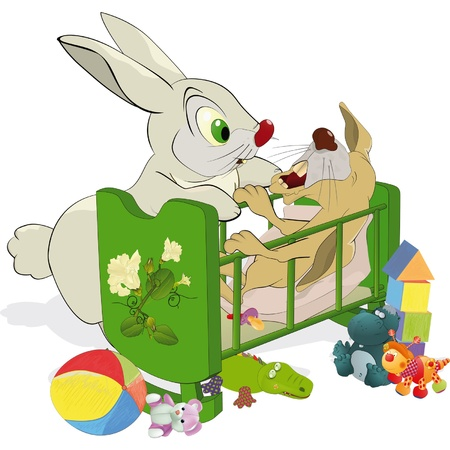 gentillesse: Maman et non pas un lapin ob�issant petite Illustration
