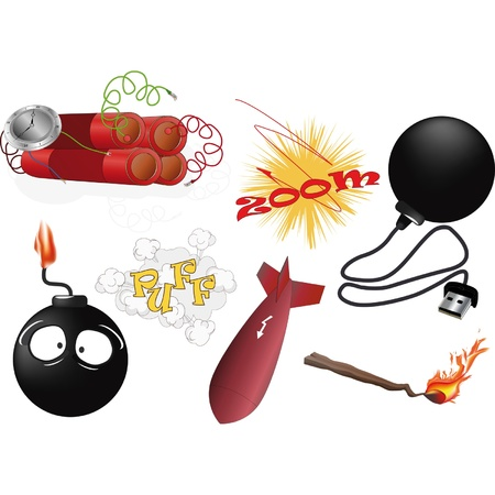 The complete set an explosive  Stock Vector - 13181192