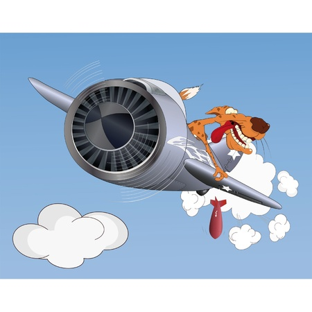 Cheetah the pilot  Stock Vector - 13211854