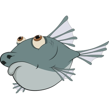 Deep-water fish. Cartoon Vector