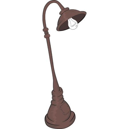 Street lantern,lamp. Cartoon  Vector
