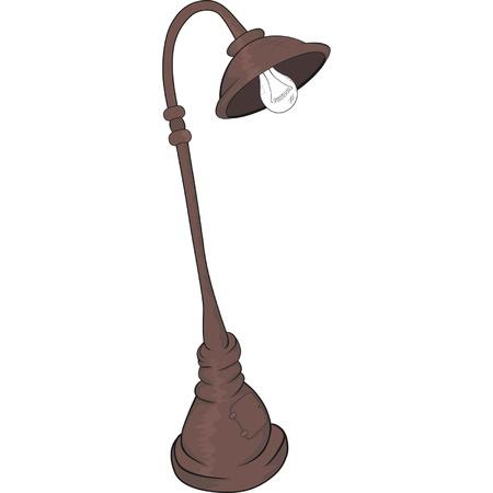 aglow: Street lantern,lamp. Cartoon  Illustration