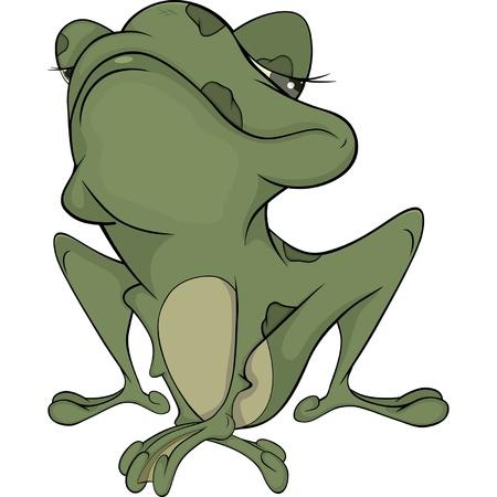 wart: The little green toad . Cartoon Illustration