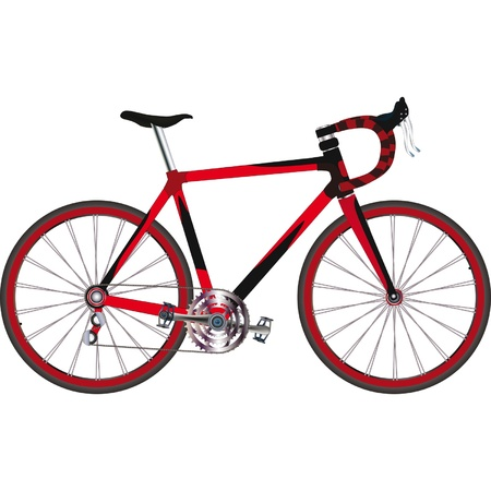 Sports bicycle  Vector