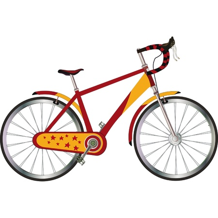 Tourist bicycle  Vector