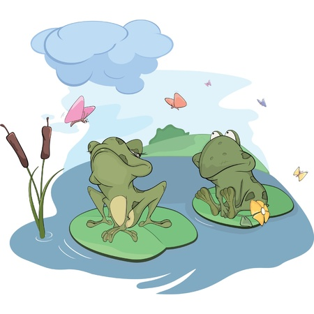 wart: Two frogs