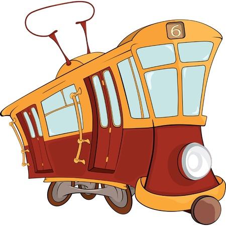 Fantástico el tranvía Ilustración de vector