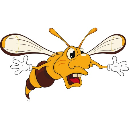 Wasp .Caricature  Vector