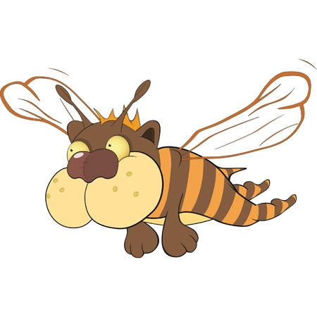 Little bee  Cartoon Vector