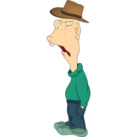zapatos caricatura: El productor de dibujos animados El hombre rural Vectores