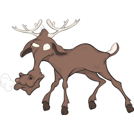 Elk  Cartoon  Vector