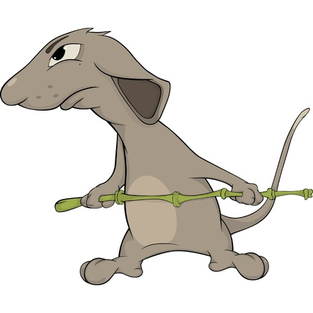 Rat the soldier Vector